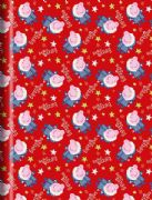 Peppa Pig Christmas Roll Wrap - 4m